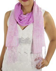 Pink Silk Scarfs