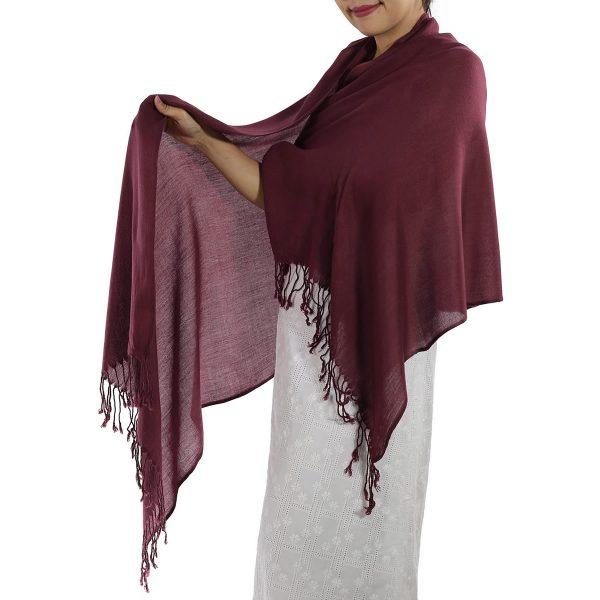 burgundy pashmina scarf