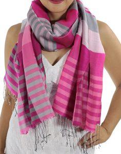 pink plaid scarfs