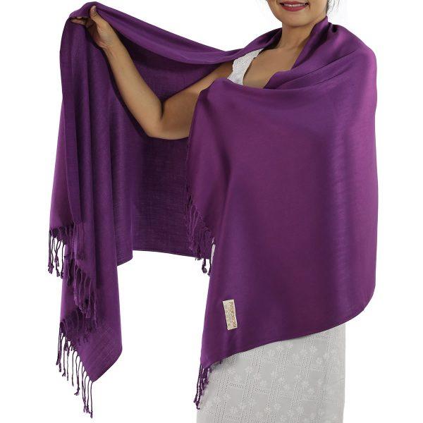 purple pashmina scarf