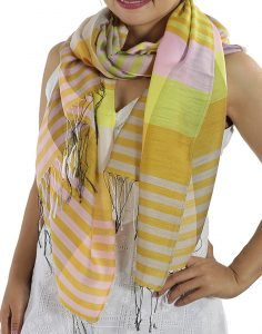 yellow plaid scarfs