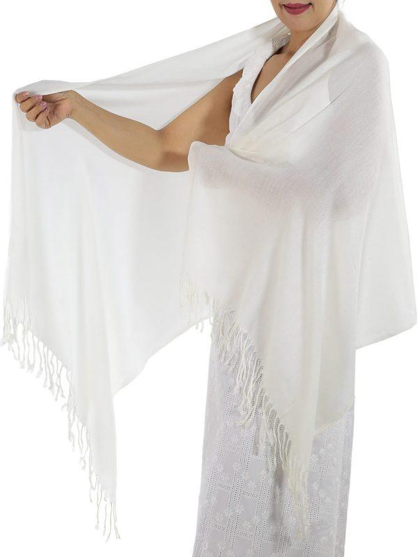 ivory cashmere scarf