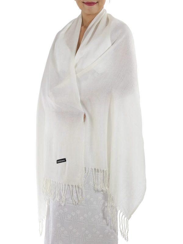 ivory cashmere shawl