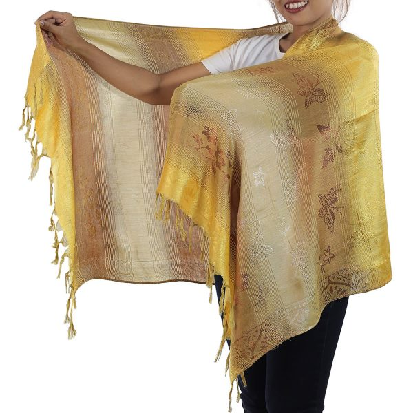 gold scarf from thailand