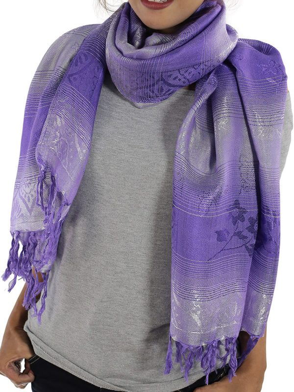 lavender scarfs from thailand