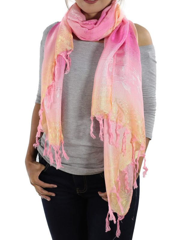 pink scarfs from thailand