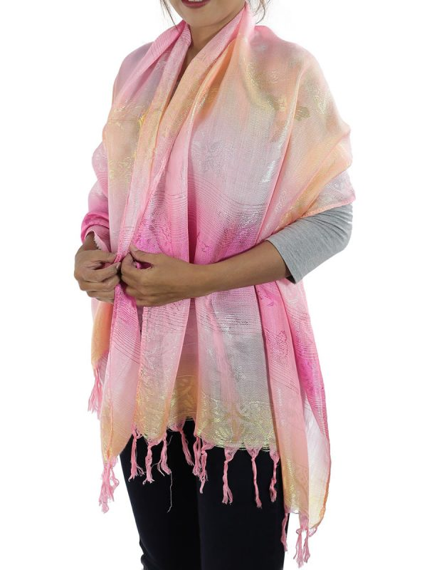 pink shawl from thailand